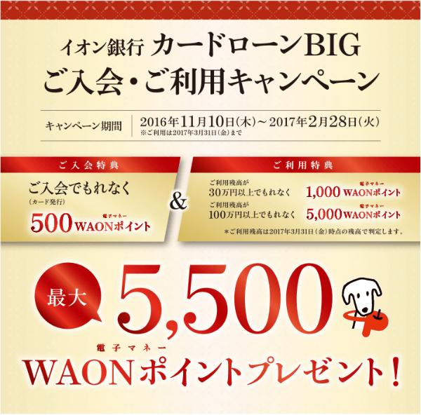 イオン銀行入会キャンペーン