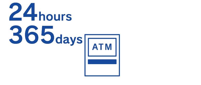 24時間365日稼働のアコムATM